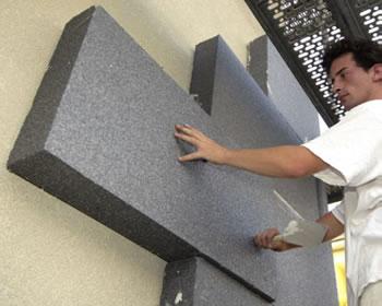 Fassadendämmung mit Polystyrol