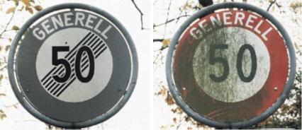 Bild links Südseite, Bild recht Nordseite